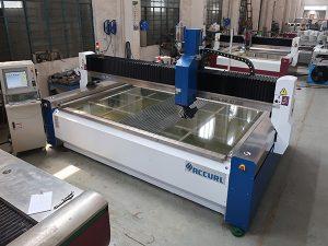 2000 * 1500mm 380 mpa研磨強化およびラミネートガラス高圧CNCウォータージェット切断機