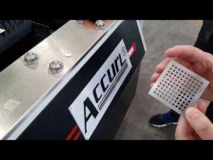 金属板CNCレーザーの切断のためのaccurl 700w ipg繊維レーザーの打抜き機