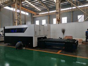 CNC 500 w彫刻機多機能シートとパイプ金属繊維レーザー切断機