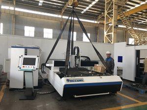 中国工場バッジ切断機+交換可能なファイバーレーザーカッター